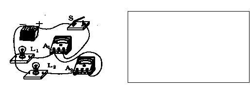 在图所示的电路,在右边的方框内画出相应的电路图.
