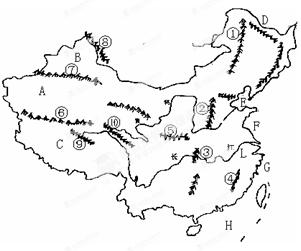 """阅读读图:请仔细完成""""中国设备图"""",填充下列问题.规划山河更新动态问题图片"""