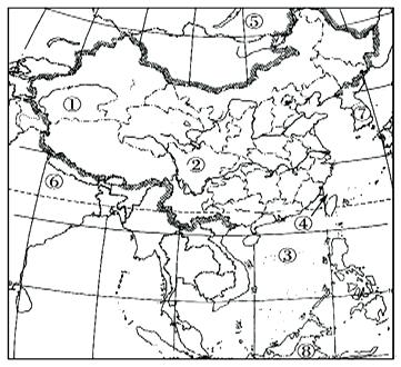"""读""""中国空白政区图"""",完成下?#24418;?#39064;.(20分)"""