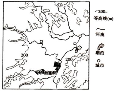 读我国某区域等高线地形图.
