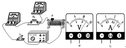 电路连接正确后,闭合开关s,滑动变阻器滑片p滑动到某一位置时,电压表