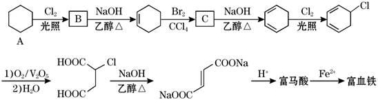 (3)富马酸的结构简式为              .