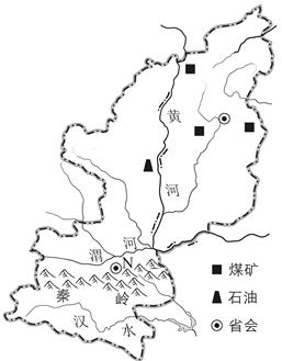 读山西省和陕西省地理简图,回答问题.
