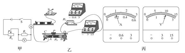 【题文】谢敏同学利用电压表和电流表测量电阻r