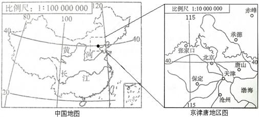 读中国地图和京津唐地区图,回答问题.