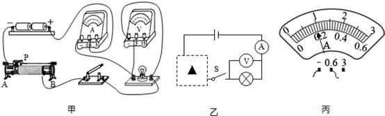 (3)检查电路连接无误后,闭合开关,读得电压表,电流表的示数分别是0.