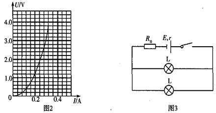 先将两个相同规格的小灯泡按如图3所示电路连接,图中定值电阻阻值为r