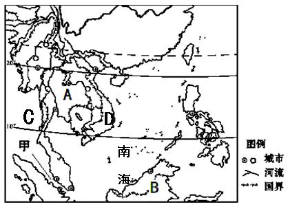 读东南亚地图,回答以下问题.