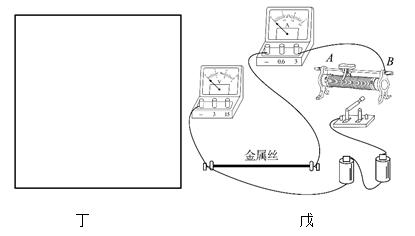 如图甲所示为用多用电表×1挡测金属丝的电阻,图乙是.