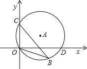 9b*yfllyd_如图,直径为10的⊙a经过点c和点o,点b是y轴右侧⊙a优弧上一点,∠obc=