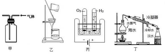 装置乙:过滤装置 c.装置丙:电解水实验原理示意图 d.