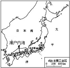图a为日本位置与地形,河流分布图,图b为日本图片