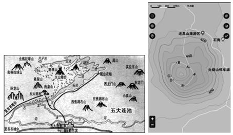 (1)沿山顶环线绘制地形剖面图.
